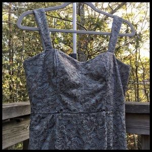 Adrianna Papell Sage Green Lace Dress Fancy Formal
